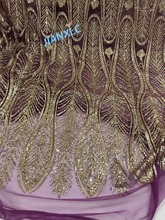 on sale African French net Lace Fabric JIANXI.C 11867 for party dress with glued glitter sequins lace fabric