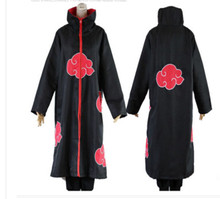 Hot Sale Anime Naruto Akatsuki/Uchiha Itachi Cosplay Halloween Pesta Natal Kostum Jubah Cape(China)