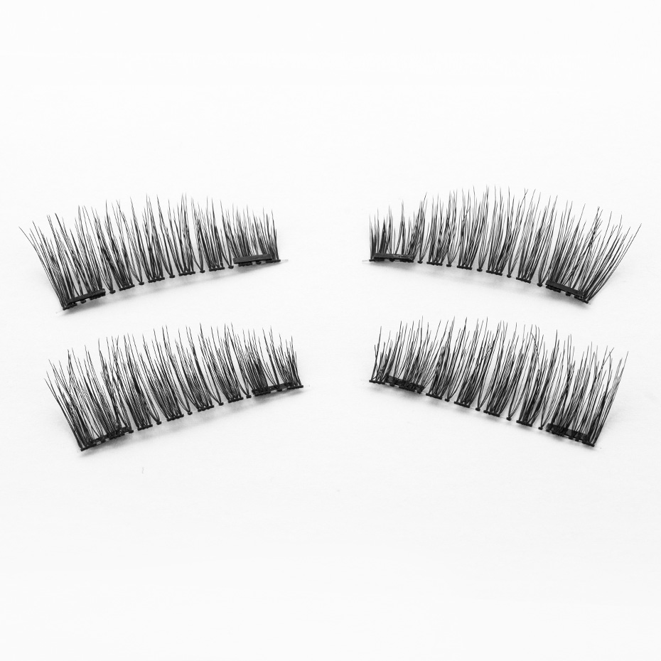 HaHaLash Magnetic Eyelashes 6D eype with two tiny magnets Natural curl Hand Made Factory Sell Eyelashes extention-HH-KS02-2