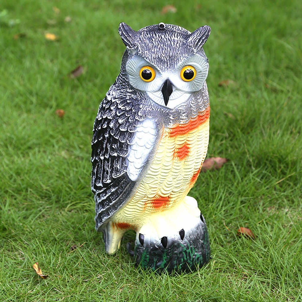 1Pc Simulation Owl Decoy Garden Yard Lawn Scarer Scarecrow Weed Pest Sparrow Bird Control Decoration