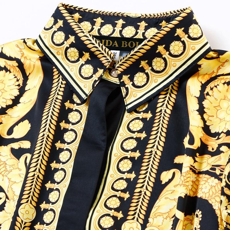 Léopard Dessus Motif Nouveau Élastique Marée Costume Trois Pieds robe De Pantalon Force Mode Automne Costume Yellow 2018 Chemise Jupe Lié pièce xUYOq1FwT