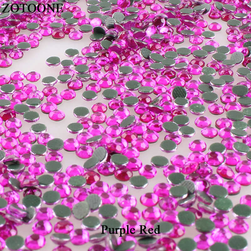 ZOTOONE Rose Hot Fix Rhinestone ความร้อนโอนเล็บ Flatback ศิลปะคริสตัล Rhinestones สำหรับเสื้อผ้า Applique D