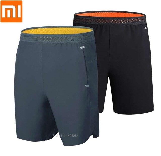 Xiaomi short de secagem rápida masculino, casual, reflexivo, seda, sem fettered, fitness, para corrida