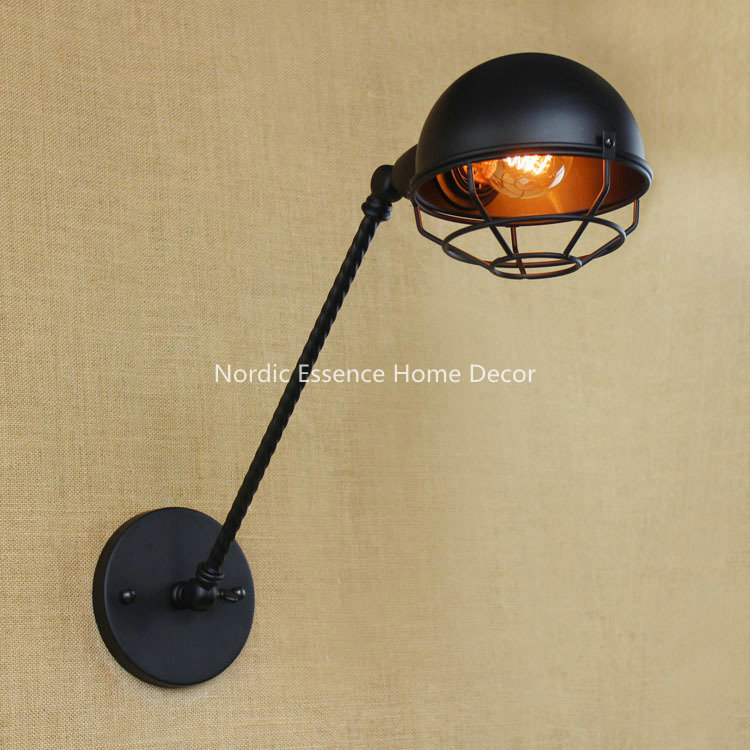 Nordic LOFT American creative bedroom Clubhouse Restaurant Bar Industrial LED decorative long arm wall sconce lamp lighting