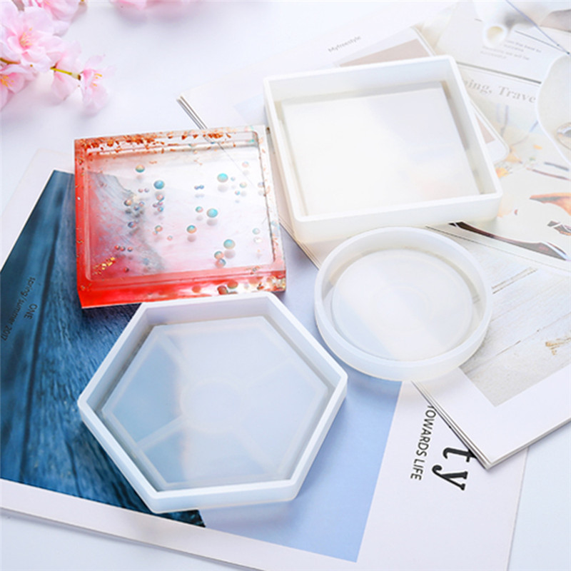 New DIY Mold Ashtray Coaster Flexible Silicone Mold Epoxy Resin Making Craft Clay Resin Molds Jewelry Making Accessories