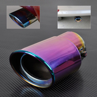 New 2 4 6cm Car High Grade 304 Stainless Steel STRAIGHT Exhaust Muffler Tip Pipes For