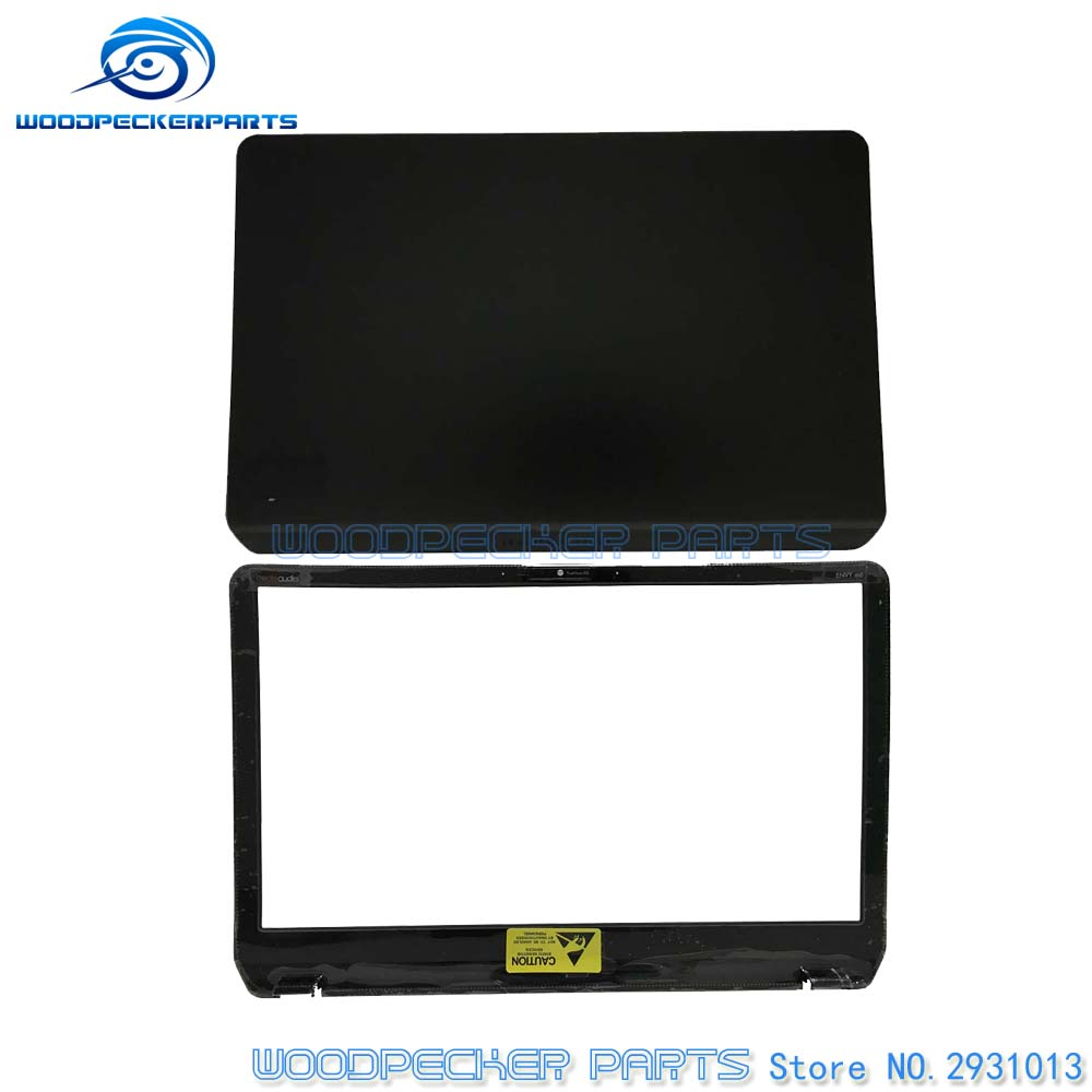 цена на New Black For HP For Pavilion For Envy M6 M6-1000 Series Cover Lcd Black with Silver Trim AP0R1000140 LCD TOP COVER 686895-001