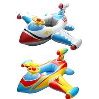 Inflatable Airplane Baby Float Seat Toddler Swim Ring Infant Pool Boat