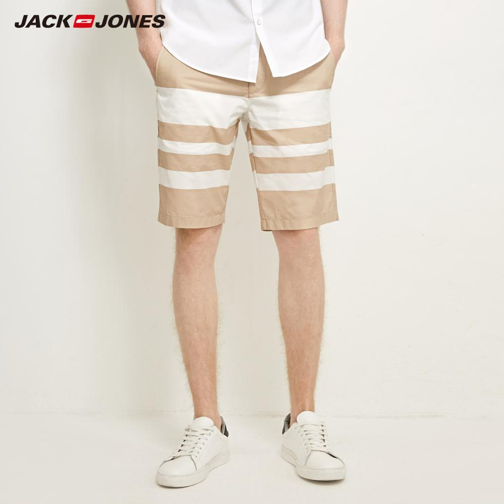 JackJones Men's 100% Cotton Straight Fit Casual Knee-length   Shorts   E|218215525