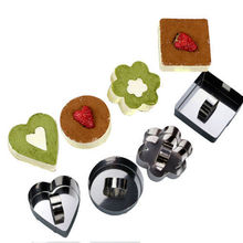 Kitchen DIY Bakeware Tools Stainless Steel Cupcake Salad Dessert Die Mousse Ring Cake Cheese Tool LY3
