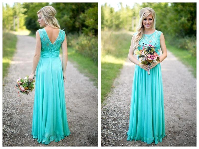 Beige Chiffon Bridesmaid Dress 2017: Hot New Arrival Turquoise Long Chiffon Bridesmaid Dresses
