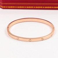 Brand Logo Carter Love Bracelet For Women Bracelets Bangles Narrow Titanium Steel Cuff Bangle Pulseira Feminina