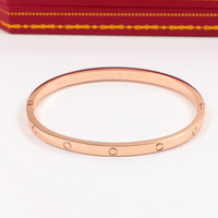 Brand Logo Carter Love Bracelet For Women Bracelets Bangles Narrow Titanium Steel Cuff Bangle Pulseira Feminina