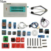 V6 6 Original TL866A Universal Minipro Programmer 24 Adapters IC Clip Clamp TL866 AVR PIC Bios