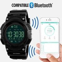 SKMEI Hommes Smartwatch Podomètre Calories Chronographe Mode Sport Smart Montres Chronographe Numérique Étanche Mens Montres