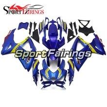 Completos Kits de Injeção ABS Carenagem Para Suzuki GSXR 600-750 GSXR 750 K8 2008 2009 2010 Moto Carenagem Azul Amarelo Cowls painel