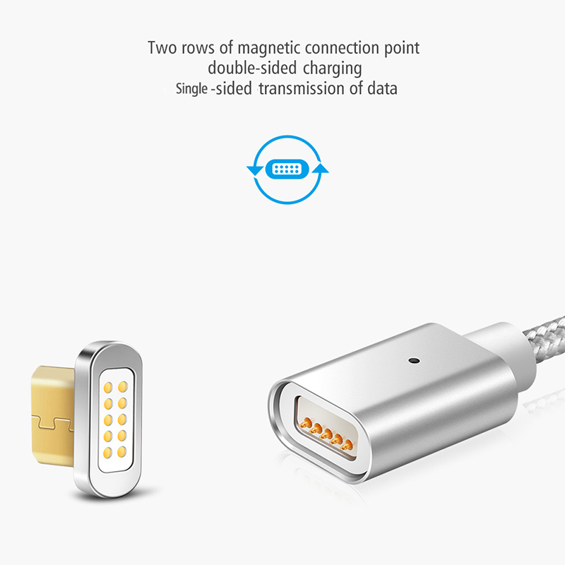 e19577412fe9a7 ... Elough E04 Magnetic Charger Cable Micro USB Cable For Xiaomi Android  Mobile Phone Fast Charge Magnet ...