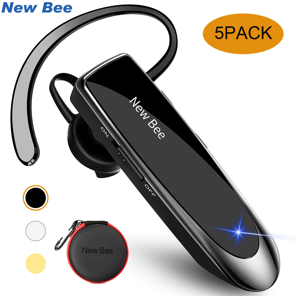 New Bee Bluetooth Earpiece Wholesale 5PCS LC-B41 Hands-free Earphone English/Russian Headphones With Mic For iPhone xiaomi