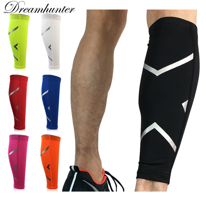 Antiskid Sports Compression Leg Sleeve Basketball Football Calf Support Running Shin Guard Cycling Leg Warmers Sun UV Protection