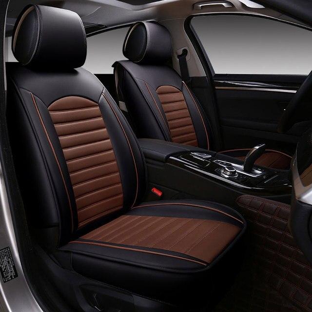 Universele lederen autostoel cover toyota Cruiser L FJ zelas Alphard ...