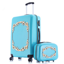 YISHIDUN luggage valiz suitcase bags women travel bag BOX,ABS+PC A set of trolley case,new style, traveling ,lock, mute,12 22 24
