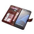 Футляр из натуральной Кожи Высокого Качества Для Samsung Galaxy S7 Edge дело Откидная Крышка для Samsung S7 Edge Случае Бизнес Бумажник стиль