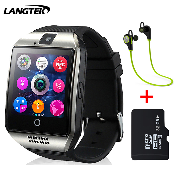 Langtek Bluetooth Smart Watch Q18 Smartwatch Support NFC SIM Card GSM Camera Support Android/IOS Smart Phone PK GT08 DZ09 U8