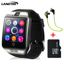 Langtek Bluetooth Smart Watch Q18 Smartwatch Support NFC SIM Card GSM Camera Support Android/IOS Smart Phone PK GT08 DZ09 U8