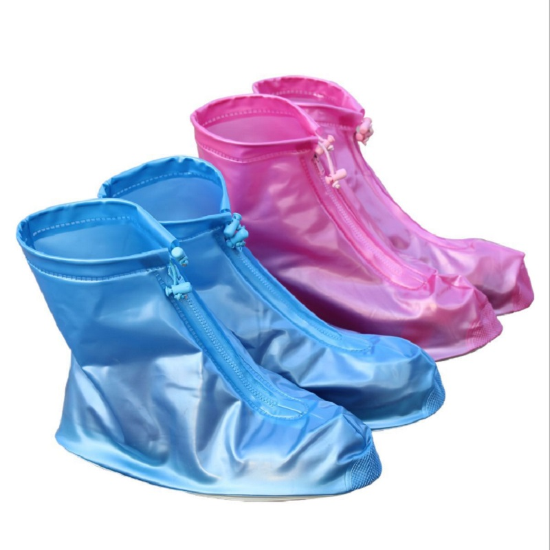 Fashion Transparent Reusable Waterproof Shoes Men Women Boots Flat Slip-resistant Rain Cover Protect Accessories Outdoor Tool