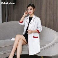 Korea cosmetic surgery clothing hospital women work dress Medical beauty uniform robes lab coat doctor nurse Pharmacist coat new