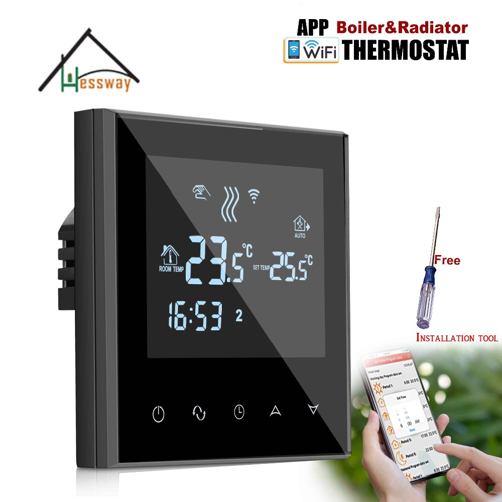 Valve,radiator Linkage Controller Weekly Programmable Room Thermostat WIFI APP For Gas Boiler Underfloor Heating