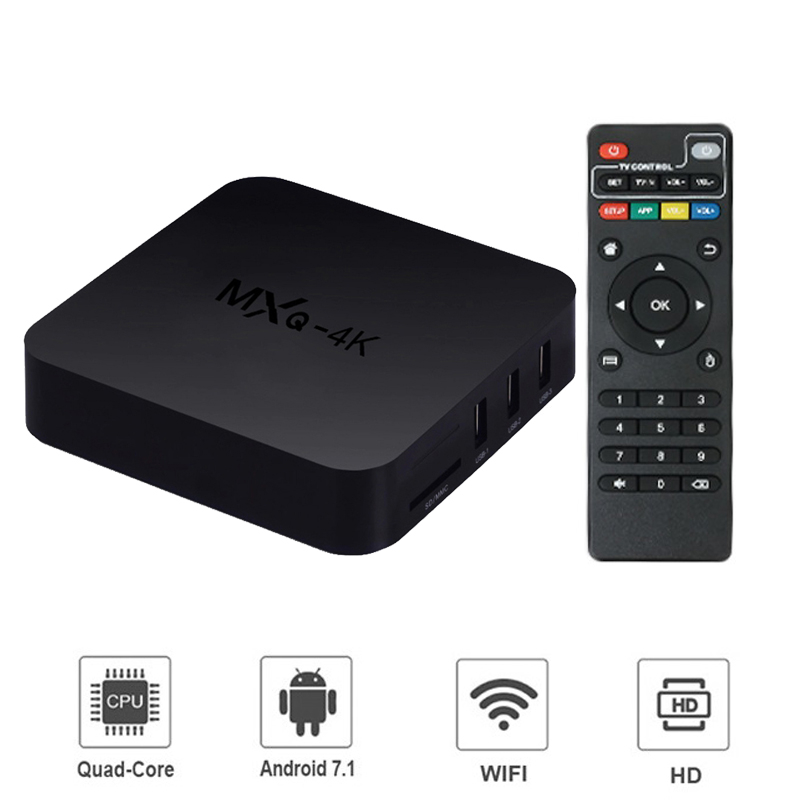 Android 7.1 Smart TV BOX Allwinner Quad Core 2GB 16GB 2.4GHz 4K Wifi Google Play Netflix Media player Set top Box TV Receiver-in Set-top Boxes from Consumer Electronics