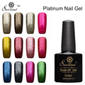Saviland 1pcs Platinum Gel Varnish UV LED Soak Off Shining Vernis Semi Permanent Platinum UV Nail Gel Polish