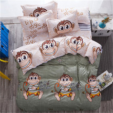 28 Home Textile Flamingo Cartoon Lovely Bedding Sets Duvet Cover Pillowcase Sheet Linen Twin Full Queen King Size 3/4Pcs