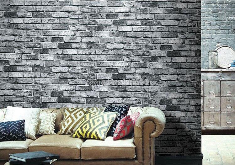 Nowoczesne vintage cegły kamienia pokoju tapety mural 3d winylu wodoodporna tłoczone tapety rolka papel de parede home decor 10 m 25