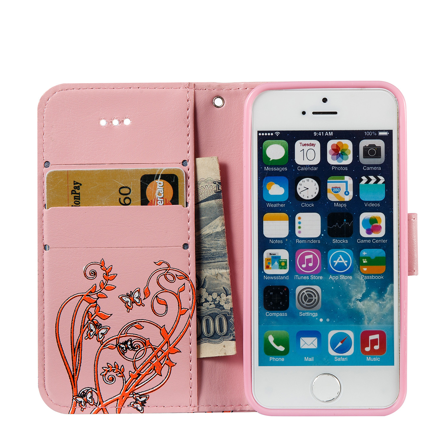 wallet leather cases for housing Apple iphone 5 Case flip cover for ...