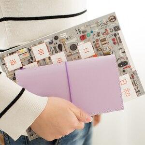 Image 4 - Heißer Vintage Makronen Reisende Notebook Echtes Regeneriert Leder Schule Persönliche Milch Notebook Agenda Planer Reise Journal