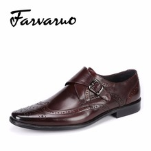 Farvarwo Men's Oxfords Shoes Leisure Casual Genuine Leather Wedding Dress Shoes For Men Business Brogues Shoes Moccasins Square