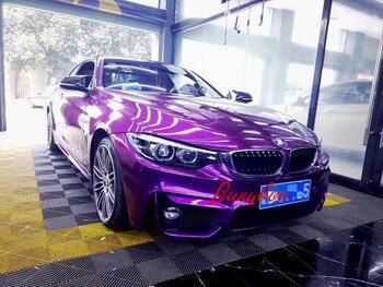 2019 New Product 1.52x18m High Quality Ultra Purple Glossy Vinyl Car Wrap Sheet