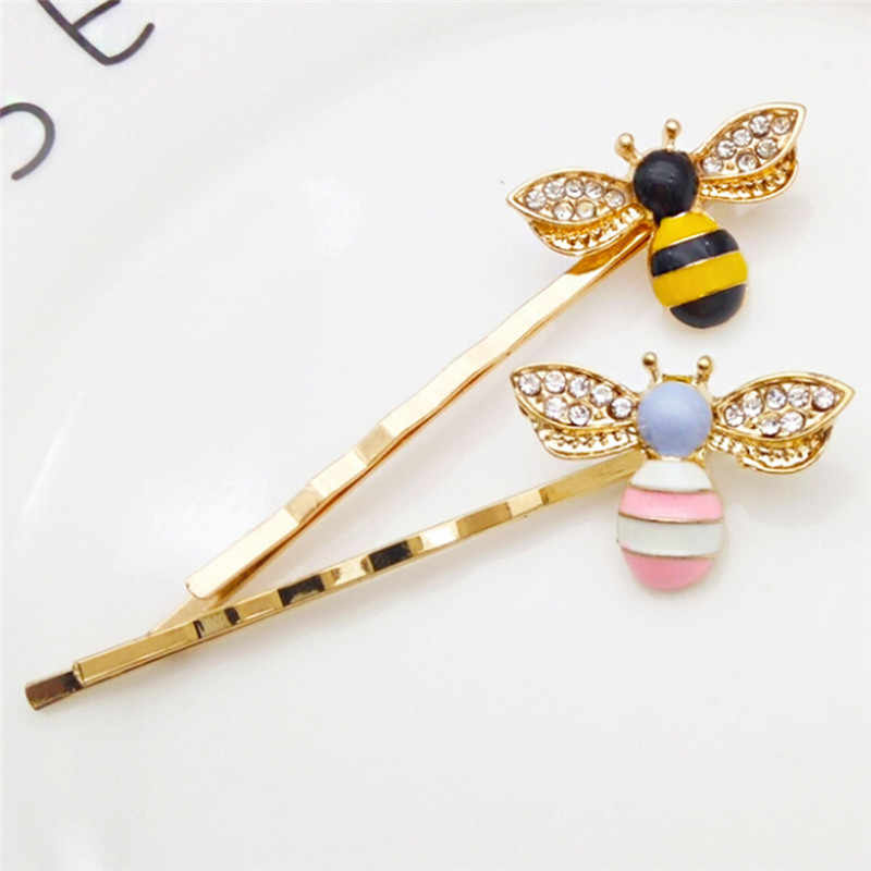 JCAAAP Animal Styles Hairpins Hair Clips For Women's Hair Barrettes Girls Crystal Wings Bees Hair Jewelry