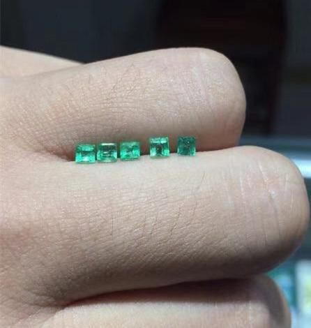 Di alta qualità della principessa taglio smeraldo di pietra allentati SI grado naturale smeraldo della pietra preziosa 3 millimetri naturale smeraldo allentati della pietra preziosa-in Perline da Gioielli e accessori su  Gruppo 2