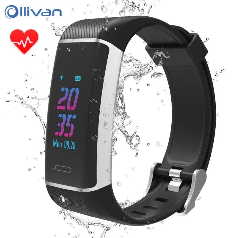 Ollivan Sport Smart Band With GPS IP67 Waterproof Smart Bracelet Fitness Bracele Smart Wristband For USB Charging Smart Watch