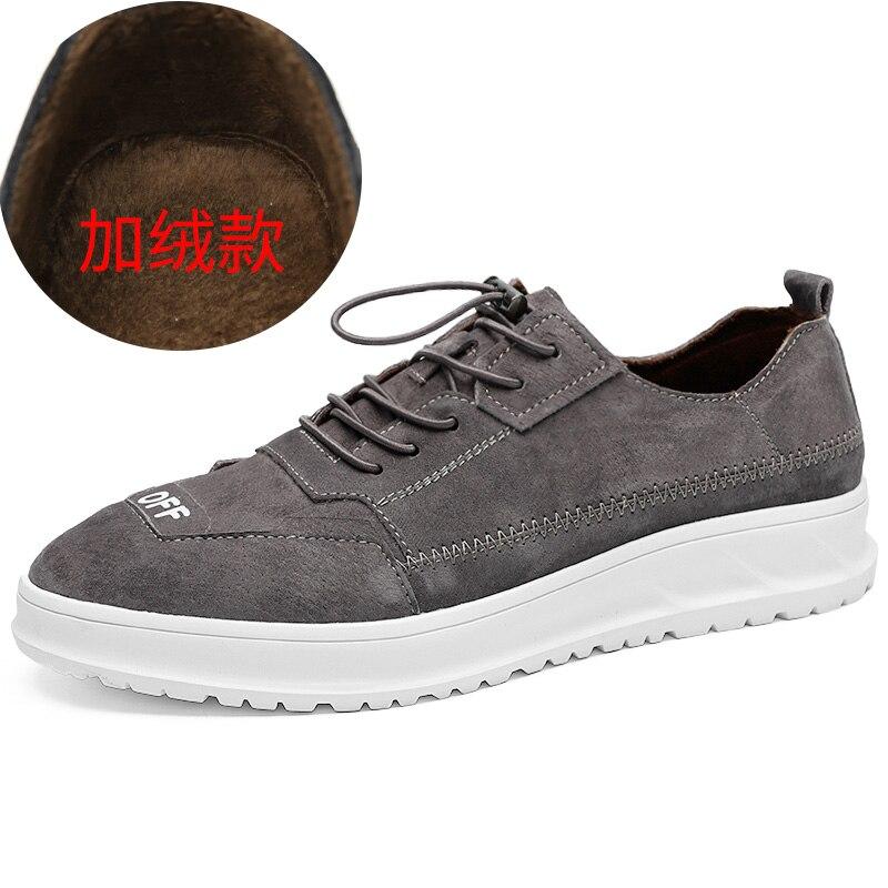 Thestron Chaussures Hommes Skate Chaussures Gris Noir Brun Mâle De Mode Chaussures 2018 Hiver Fourrure Chaude Vente Mens Designer Sneakers Confortable