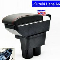 Leather Car Interior Parts Center Console Armrest Box for Suzuki Liana A6 Armrests with USB Free Shipping