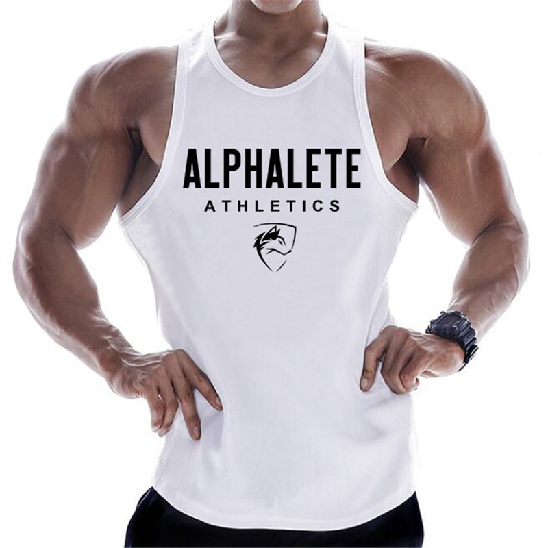 2019 Gyms Workout Sleeveless Shirt Sports Tank Top Men Bodybuilding Fitness Clothing Cotton T-shirt Men Running Vest
