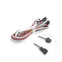 200 шт 2 метров 3pin JST SM Мужской Женский Соединительный кабель для светодиодной для WS2812B WS2811 SK6812 Светодиодные ленты свет
