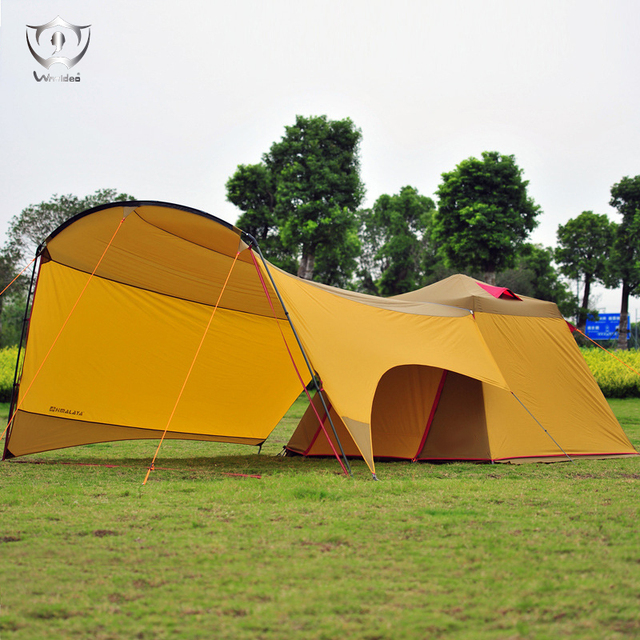 Large Outdoor C&ing Tent Wild Equipment 4-Season 3-4Person Family Cabin Tent Barraca & Large Outdoor Camping Tent Wild Equipment 4 Season 3 4Person ...