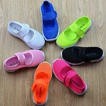 2016 детей разноцветные кроссовки девочек сандалии студенты конфеты цвет девушки Сетка полые плоские кроссовки Мальчики и дети сандалии