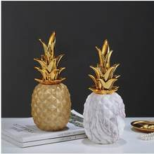 Bella ceramica ananas modello di artigianato ornamenti, Nordic creativo home office desktop di decorazioni, bella porcellana(China)