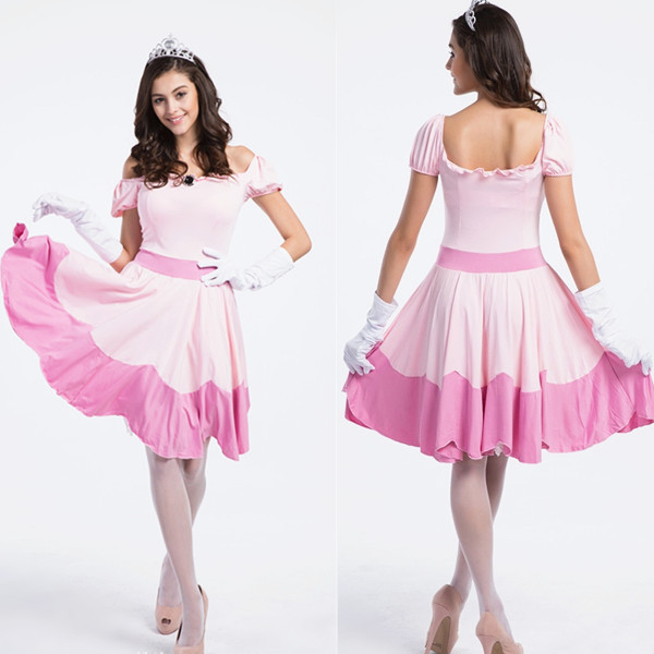2015 Pink Snow White Halloween Costume Cosplay Fancy Party Theme ...